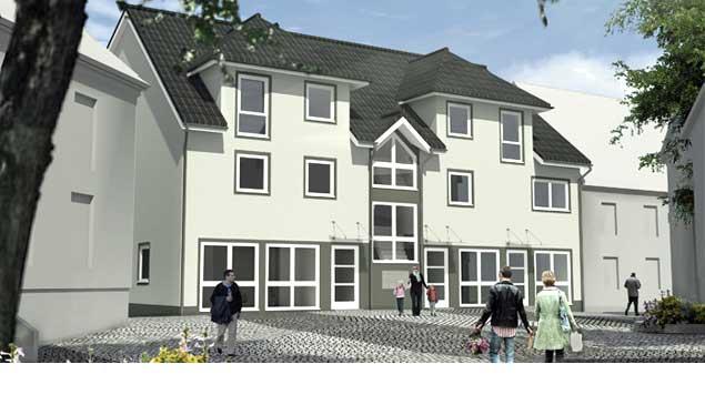 Neubau eines Mehrfamilienhauses mit Gewerbe