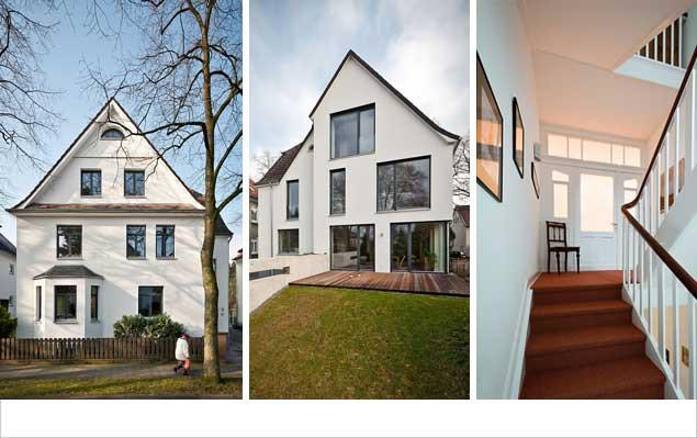 Ein Haus wird 100 Jahre nach seiner Entstehung zum KfW-Effizienzhaus-100