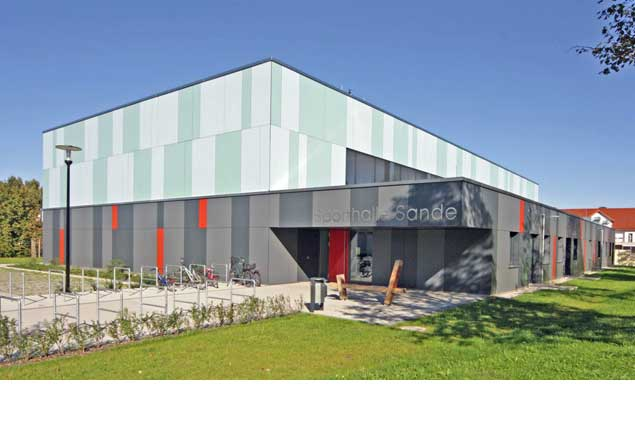 Passivhaus - Sporthalle Sande, Paderborn